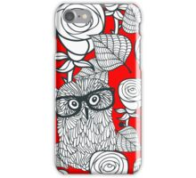 White roses and owls iPhone Case/Skin