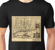 American Revolutionary War Era Maps 1750-1786 084 A map of the colonies in Connecticut and Rhode Island divided by counties & townships from best authorities Unisex T-Shirt