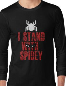 I Stand With Team Spidey - New Spiderman Logo Long Sleeve T-Shirt