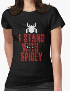I Stand With Team Spidey - New Spiderman Logo Womens Fitted T-Shirt