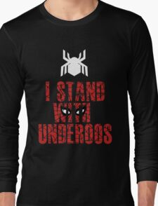 I Stand with Team Underoos - New Spiderman Logo Long Sleeve T-Shirt