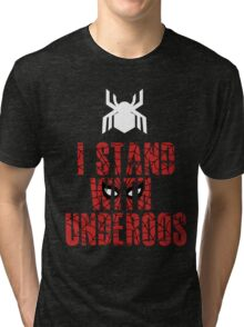 I Stand with Team Underoos - New Spiderman Logo Tri-blend T-Shirt
