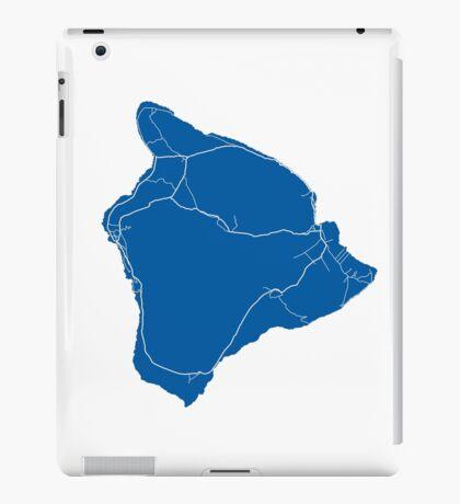 Hawaii Island Map - Deep Blue iPad Case/Skin