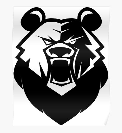 Black bear logotype Poster