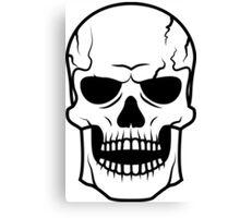 Black skull. Very DANGER! Canvas Print