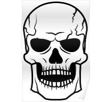 Black skull. Very DANGER! Poster