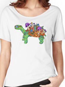 Rainbow Mushroom Tortoise  Women's Relaxed Fit T-Shirt