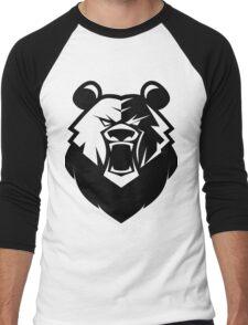 Black bear logotype Men's Baseball ¾ T-Shirt