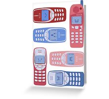 Vintage Cellphone Reactions Greeting Card