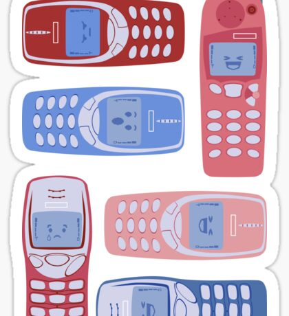 Vintage Cellphone Reactions Sticker