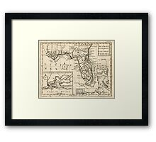 American Revolutionary War Era Maps 1750-1786 103 A map of the new governments of East & West Florida Framed Print