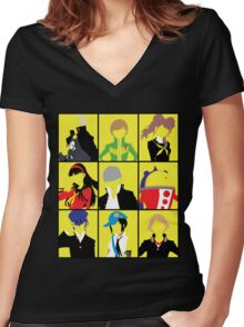 Persona 4 golden cast Women's Fitted V-Neck T-Shirt