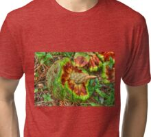 Hoop Pine Fruit Patterns Tri-blend T-Shirt