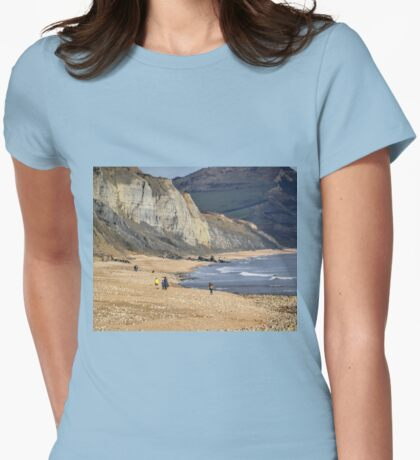 Charmouth Beach, close up... Dorset UK Womens Fitted T-Shirt