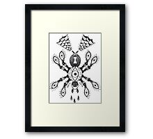 Spider Eyes B&W Framed Print