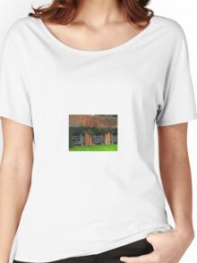 Roses Above the Stables Women's Relaxed Fit T-Shirt