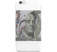 Benjamin Franklin 100 dollar bill shark hoodie iPhone Case/Skin