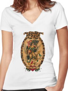 Miss USA Women's Fitted V-Neck T-Shirt