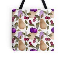 Fruits seamless pattern design white Tote Bag