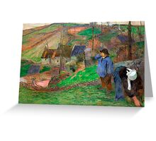 1888 - Gauguin - Landscape of Brittany Greeting Card