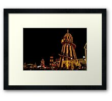 Fun fair at night Framed Print