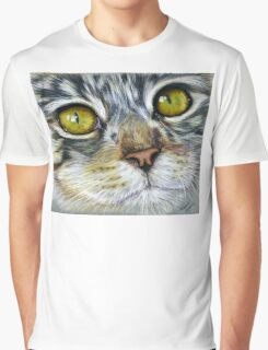 Blink Macro Cat Painting Graphic T-Shirt