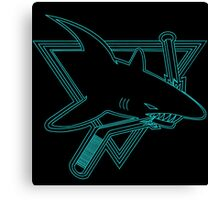 Opening Night Laser Light Shark Canvas Print