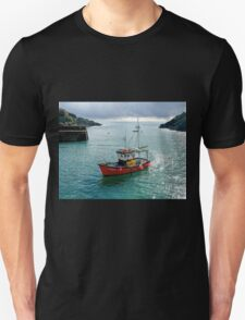 Fair Wind At Polperro Harbour Unisex T-Shirt