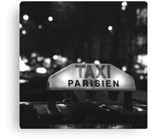 Taxi Parisien Canvas Print
