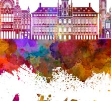 Antwerp skyline in watercolor Sticker