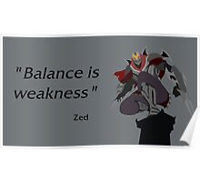 Balance is weakness Poster