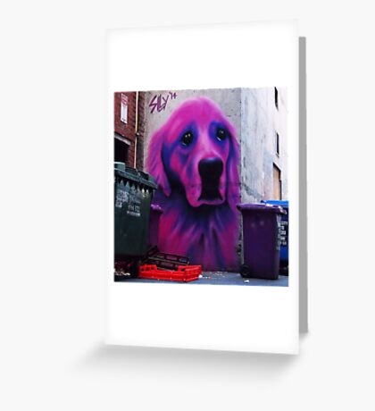 Pink Lab Greeting Card
