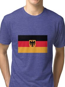 Flag of Germany with Coat of Arms Tri-blend T-Shirt