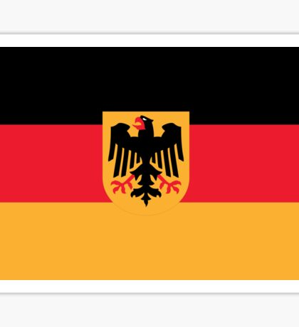 Flag of Germany with Coat of Arms Sticker