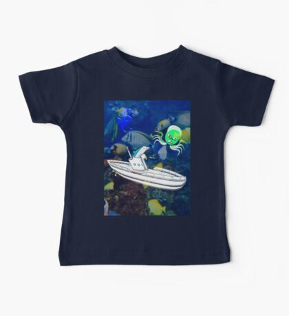 Submarine and Dolphin T-shirt, etc. design Baby Tee