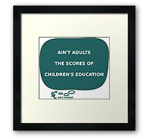 Kid'S THOUGHT - Education Framed Print