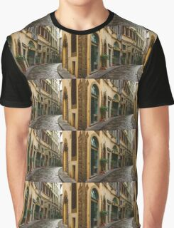 Impressions Of Florence - Walking on the Silver Street in the Rain Graphic T-Shirt