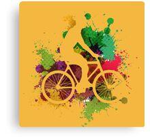 Riding a BMX Canvas Print