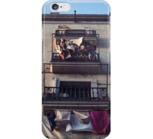 A windy afternoon in Barceloneta  iPhone Case/Skin