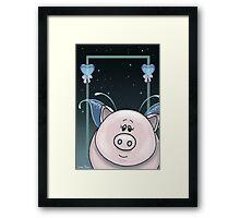 Piggy Portrait Framed Print
