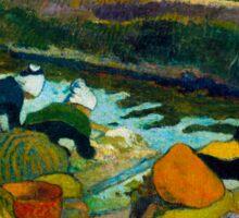 1888 - Gauguin - Washerwomen Sticker