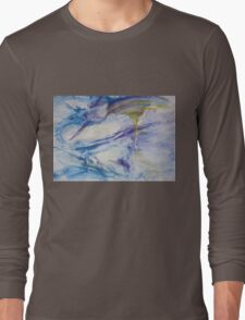 Waterspouts, Tornadoes at Sea - Original Wall Modern Abstract Art Painting Original mixed media  Long Sleeve T-Shirt