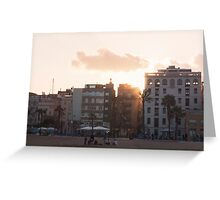 Sunset through the old barrio - Barcelona Greeting Card