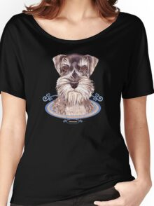 Miniature German Schnauzer dog Women's Relaxed Fit T-Shirt