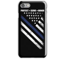The thin blue line iPhone Case/Skin