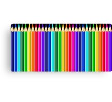 Rainbow of Colorful Colored Pencils or Crayons Canvas Print