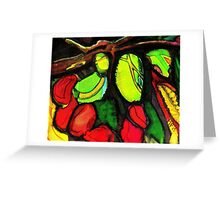 green mangoes Greeting Card