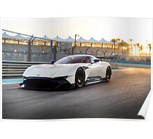Aston Martin Vulcan - Shot on Location at Yas Marina F1 Circuit Poster