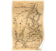 American Revolutionary War Era Maps 1750-1786 589 Map of Orange and Rockland counties area of New York Poster