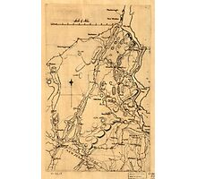American Revolutionary War Era Maps 1750-1786 589 Map of Orange and Rockland counties area of New York Photographic Print